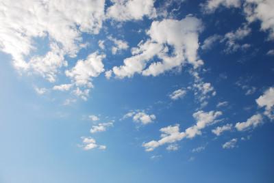 真夏の青空と雲