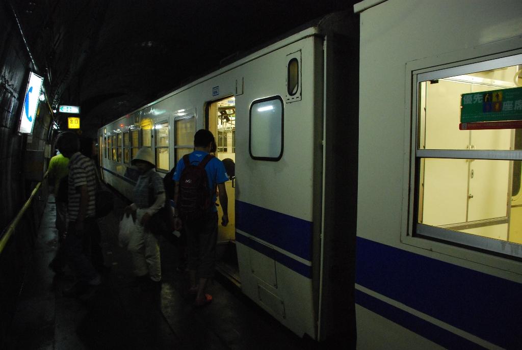 普通電車が来た