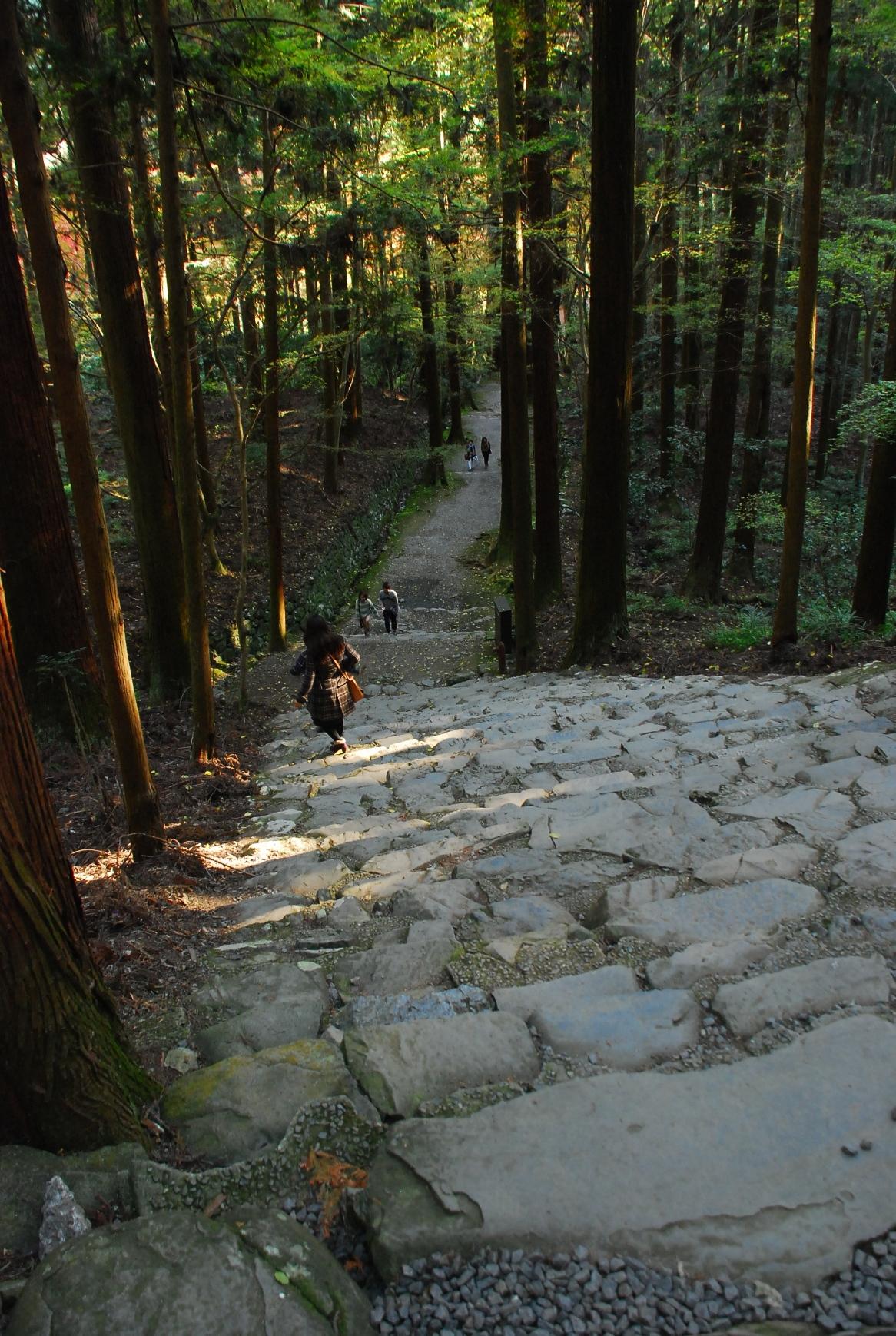 高山寺下石段